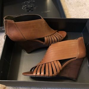 Vince Camuto Brown Wedge Sandals
